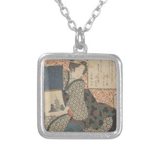 Collar Plateado Japonés Woodprint