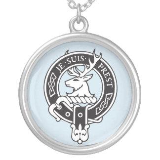 Collar Plateado Je Suis Prest - escudo de Fraser del clan