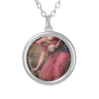 Collar Plateado John William Waterhouse - narciso - bella arte