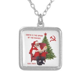 Collar Plateado Karl Marx Santa
