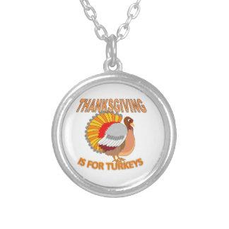 Collar Plateado La acción de gracias está para los pavos