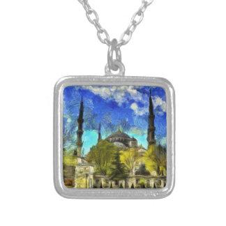 Collar Plateado La mezquita azul Estambul Van Gogh