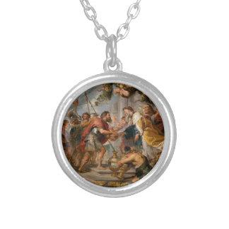 Collar Plateado La reunión de Abraham y del arte de Melchizedek