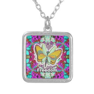 Collar Plateado Libertad de la mariposa