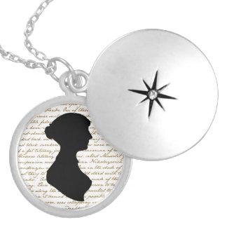 Collar Plateado Locket de Jane Austen