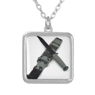 Collar Plateado los militares combaten estilo cruzado de la