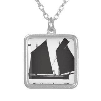 Collar Plateado lugger del país del oeste 1887 - fernandes tony