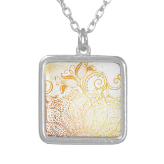 Collar Plateado Mandala - cepillo de oro