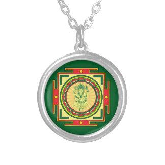 Collar Plateado Mandala de Ganesha