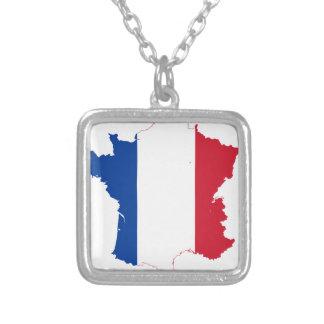 Collar Plateado map-of-france-1290790