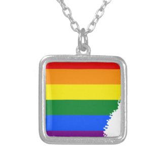 Collar Plateado Mapa de la bandera de Arkansas LGBT