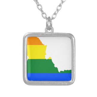 Collar Plateado Mapa de la bandera de Idaho LGBT