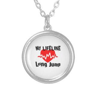 Collar Plateado Mi línea de vida salto de longitud se divierte