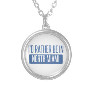 Collar Plateado Miami del norte
