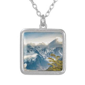 Collar Plateado Montañas Nevado los Andes, EL Chalten la Argentina