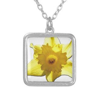 Collar Plateado Narciso 1,0 de la trompeta amarilla