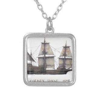 Collar Plateado Nave de oro de 1578 Hinde