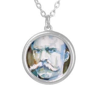 Collar Plateado nietzsche de Friedrich - retrato de la acuarela