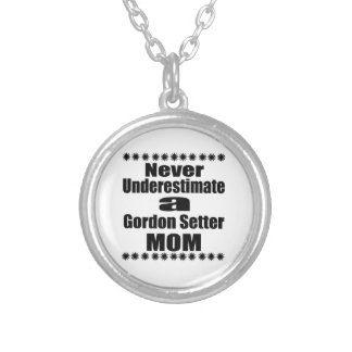 Collar Plateado Nunca subestime a la mamá del organismo de Gordon
