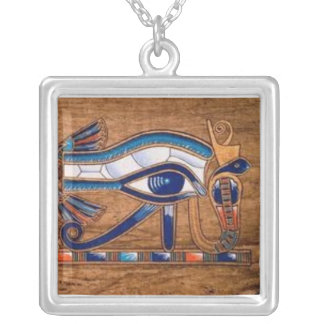 Collar Plateado ojo del horus