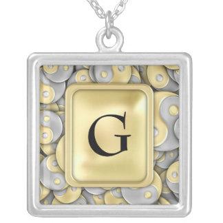 Collar Plateado Oro y plata Yin y Yang