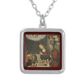 Collar Plateado Pastores que adoran al bebé Jesús por Cranach