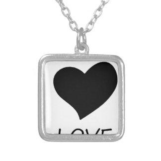 Collar Plateado paz love18