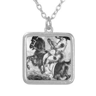Collar Plateado Perro que monta una cabra