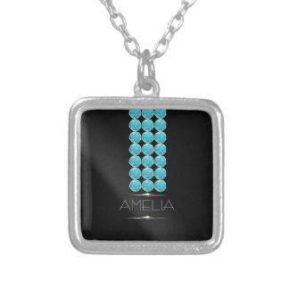 Collar Plateado Piedras preciosas atractivas diciembre ID453 del