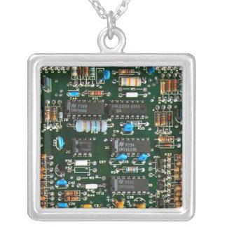Collar Plateado Placa de circuito impresa electrónica del