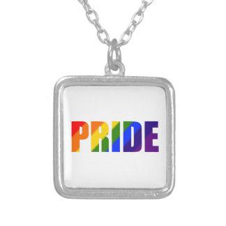 collar plateado plata del orgullo del arco iris