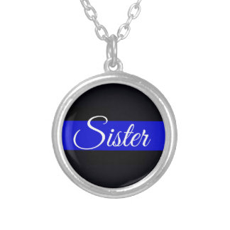 Collar plateado plata fina de la hermana de Blue