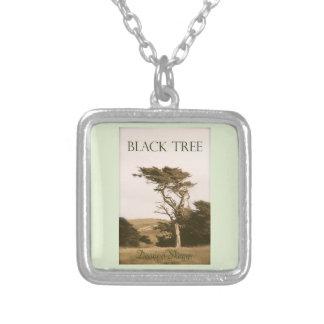 Collar plateado plata negra del árbol