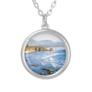 Collar Plateado Playa Oregon del cañón