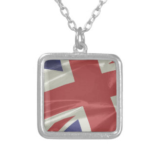 Collar Plateado Primer de seda de la bandera de Union Jack