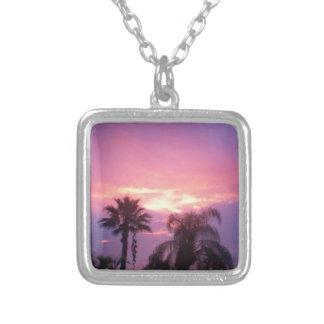 Collar Plateado Puesta del sol de Coloful la Florida