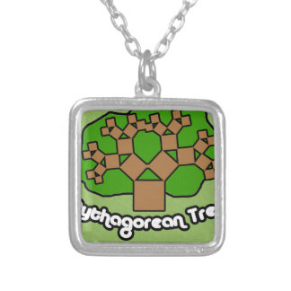 Collar Plateado Pythagorean Tree