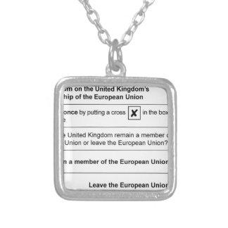 Collar Plateado Referéndum de Brexit en Reino Unido