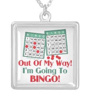 Collar Plateado Refrán divertido del bingo