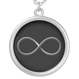 Collar Plateado Reglas de la ciencia del símbolo el | del infinito