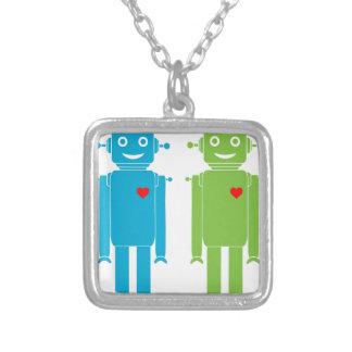 Collar Plateado Robots gay
