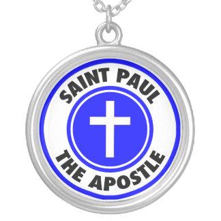 Collar Plateado Saint Paul el apóstol