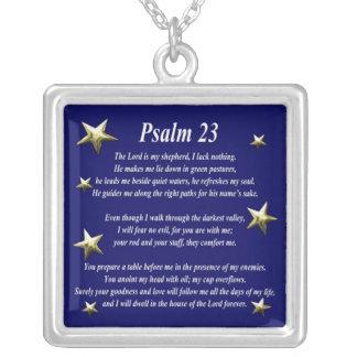 Collar Plateado Salmo bien escogido 23 de la estrella