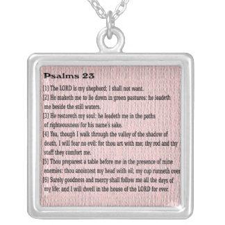Collar Plateado Salmos 23