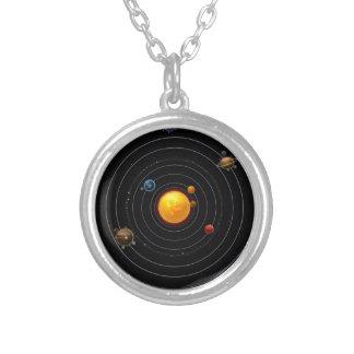 Collar Plateado Sistema Solar