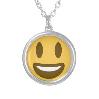 Collar Plateado Smiley Emoji Twitter