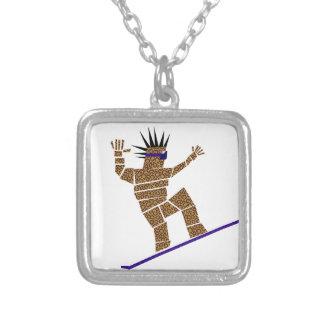 Collar Plateado Snowboarder