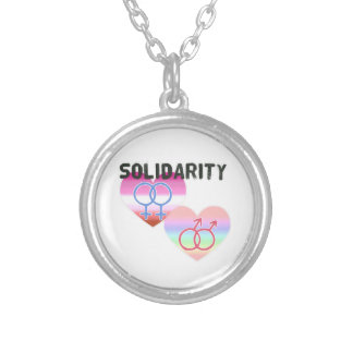 Collar Plateado Solidaridad gay lesbiana