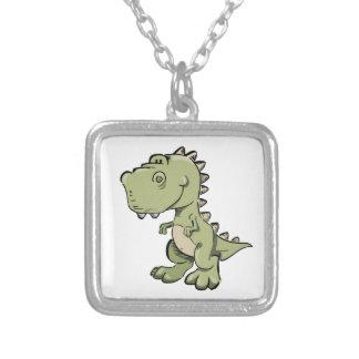 Collar Plateado T-Rex