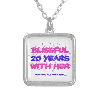 Collar Plateado Tender los vigésimos diseños del aniversario de la